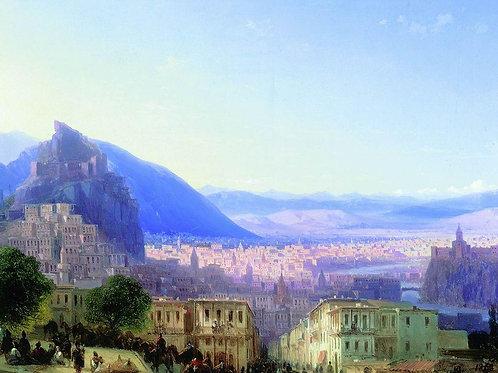 Вид Тифлиса от Сейд-Абаза. 1868, 30х40 см.