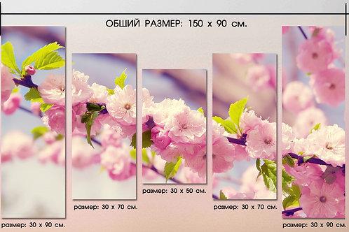 Розовая весна. 100% натур. холст, подрамник.