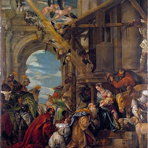 Паоло Веронезе - Поклонение волхвов, 30х40 см.