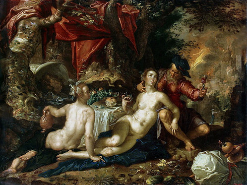 Эйтевал, Иоахим - Лот с дочерьми (2),  30х40 см.