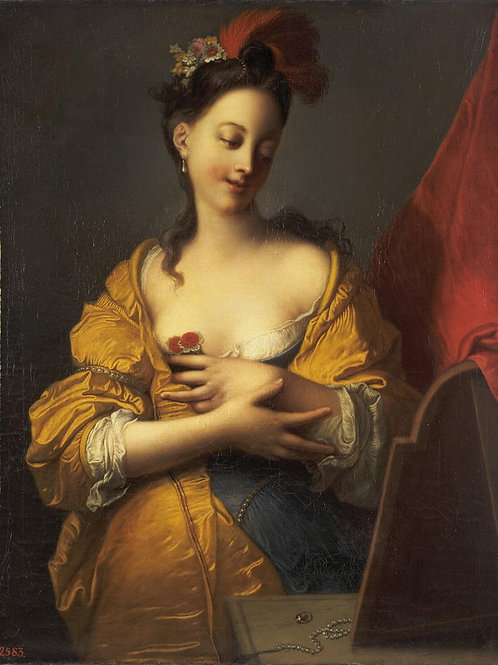 Куртен, Жак-Франсуа - Молодая женщина п, 30х40 см.