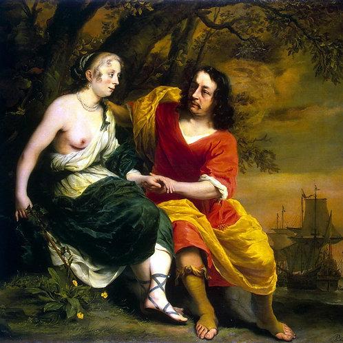 Бол, Портрет виноторговца и его жены в , 30х40 см.