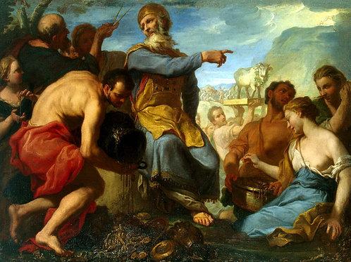 Молинари, Антонио - Поклонение золотом,  30х40 см.