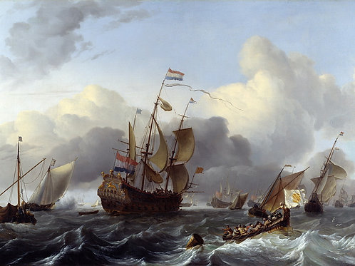 Людольф Бакхейзен - Голландский флот с, 30х40 см.