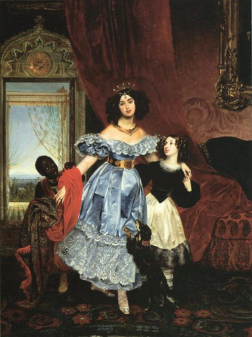 Портрет Самойловой с воспитанницей    30х40 см.