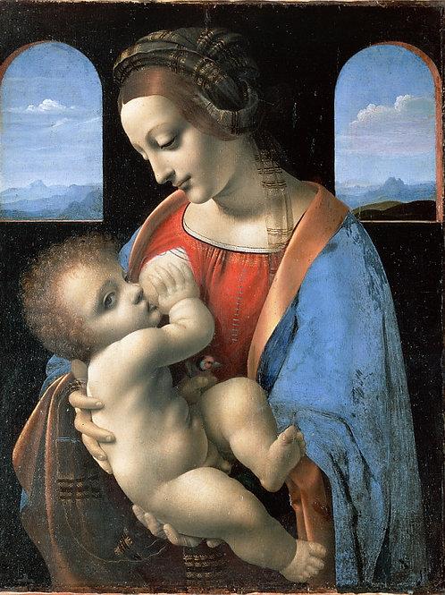 Леонардо да Винчи - Мадонна с младенцем, 30х40 см.