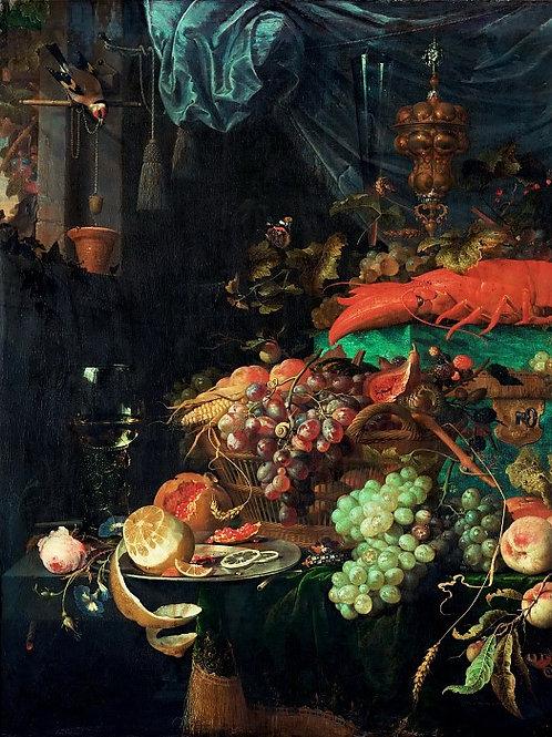Хем, - Натюрморт с фруктами, 3040см.