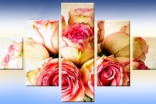ретро роза, 100% натур. холст, подрамник.
