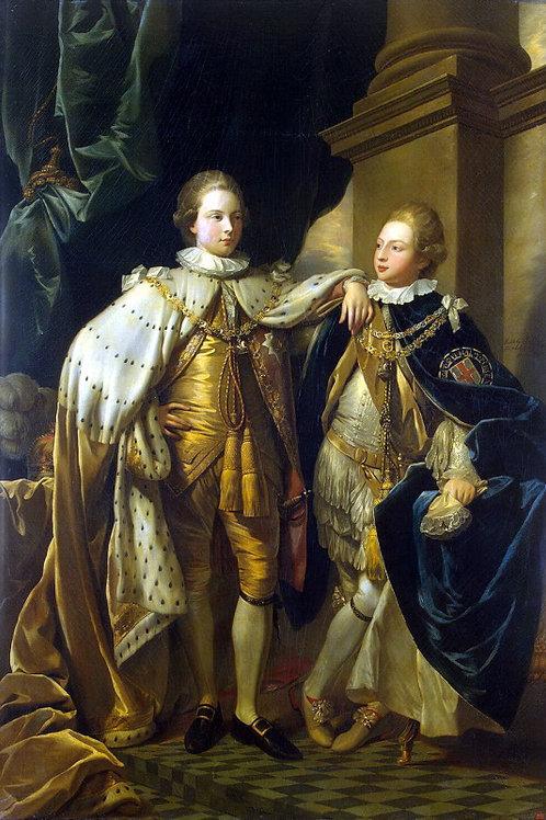Уэст, Бенджамен - Портрет Георга, принц, 30х40 см.