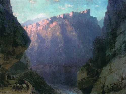 Дарьяльское ущелье. 1868, 30х40 см.