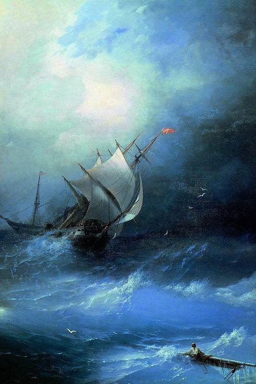 Буря на Ледовитом океане. 1864, 30х40 см.