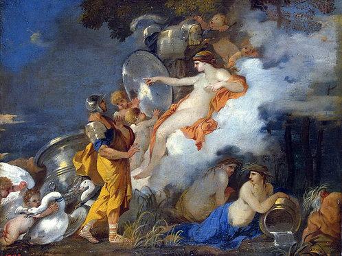 Бурдон, Иаков зарывает идолов в землю п, 30х40 см.