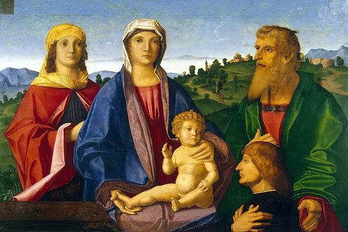 Катена, Винченцо - Мадонна с младенцем, 30х40 см.