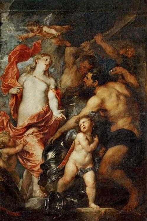 Дейк, Венера в кузнице Вулкана 30х40 см.