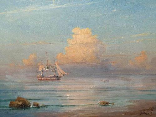 Морской вид. 1899, 30х40 см.