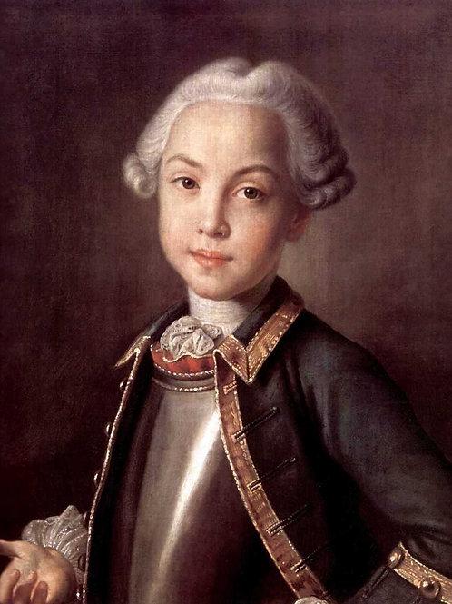 Портрет графа Н.П.Шереметьева в детстве. 30х40 см.