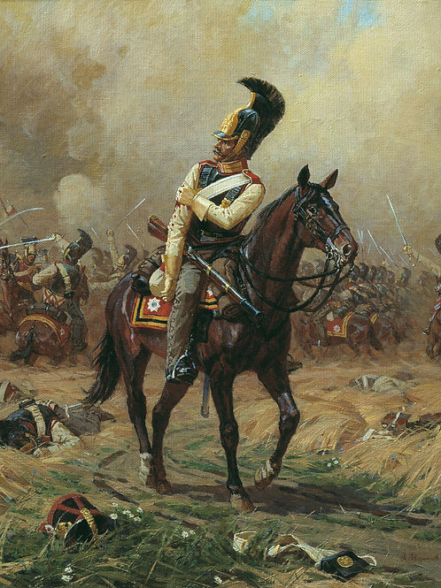 Раненый кавалергард, 30х40 см.