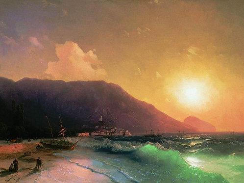 Морской вид. 1867, 30х40 см.