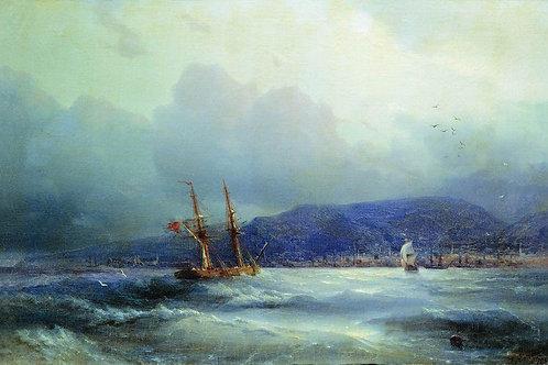 Трапезунд с моря. 1856, 30х40 см.