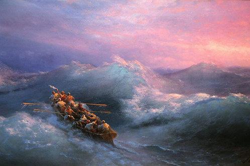 Кораблекрушение. 1884, 30х40 см.