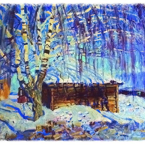 Синий февраль, 2006г., 30х35