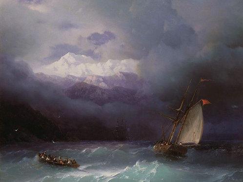 Бурное море. 1868, 30х40 см.