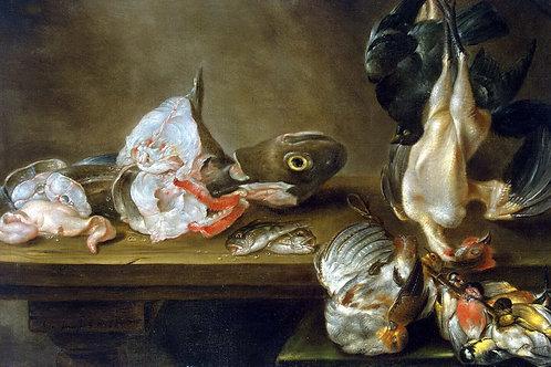 Адриансен,  Рыба и дичь, 30х40 см.