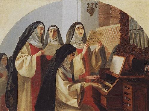 Монахини монастыря Святого Сердца  30х40 см.