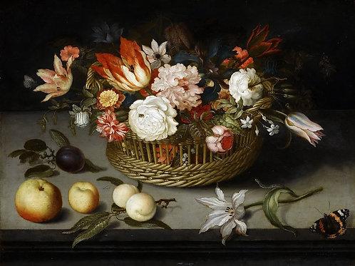 Аст, - Корзина с цветами, 30Х40см.
