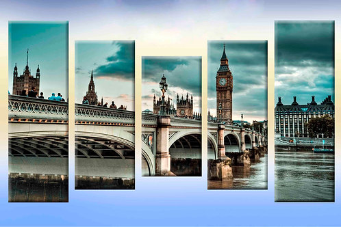 Англия, мост,  100% натур. холст, подрамник.