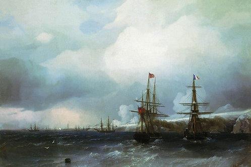 Взятие Севастополя. 1855, 30х40 см.