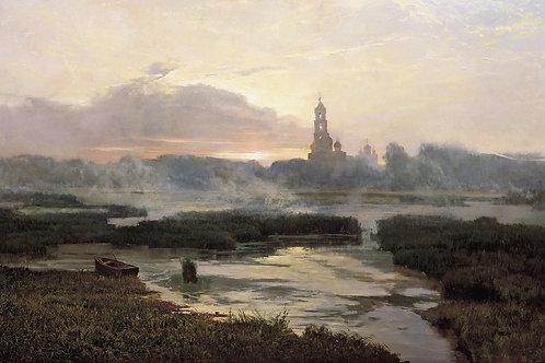 Утро Серафимо-Дивеевской Лавры 30х40 см.