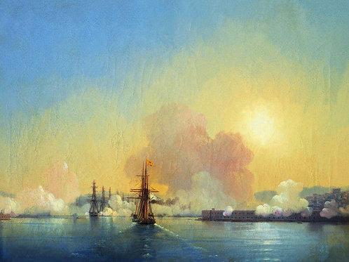 Вход в Севастопольскую бухту. 1852, 30х40 см.