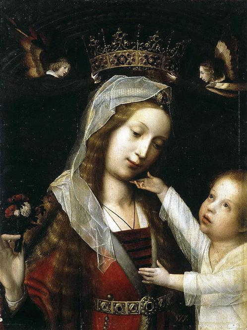 Провост, Ян - Мадонна с Младенцем, 30х40 см.