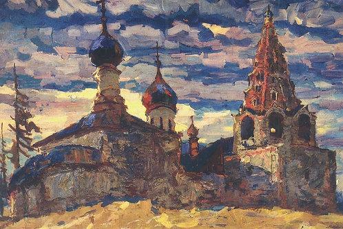 «Даниловский монастырь в Переславле»  30х40 см.