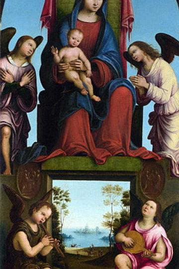 Лоренцо Коста - Алтарь из молельни церк, 30х40 см.