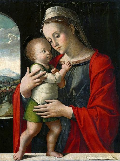 Альвизе Виварини - Мадонна с Младенцем2, 30х40 см.