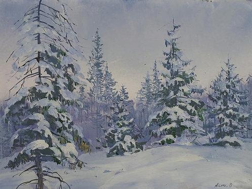 «Зимний лес»    30х40 см.