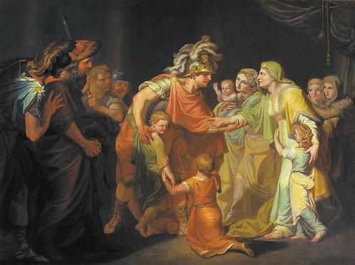Великий князь Святослав, целующий мать , 30х40 см.
