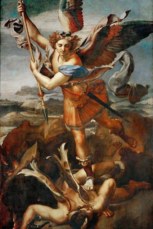 Рафаэль  Святой Михаил и дьявол 30х40 см.