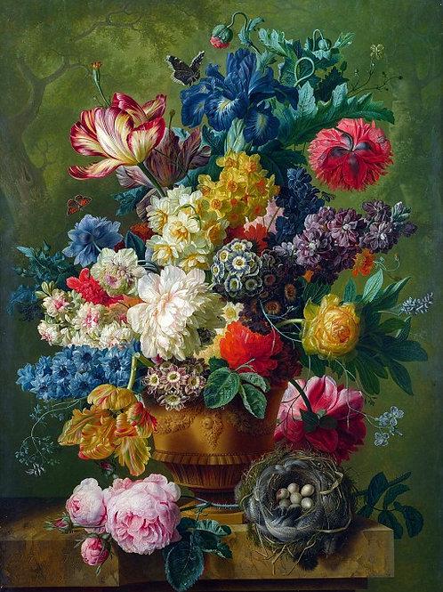 Пауль Теодор ван Брюссель - Ваза с цвет, 30х40 см.