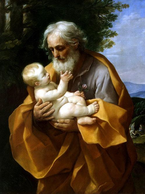 Рени, Гвидо - Иосиф с младенцем Христом, 30х40 см.