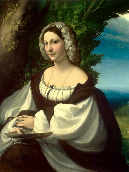 Корреджо - Женский портрет, 30х40 см.