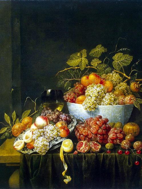 Утрехт, Адриан ван - Натюрморт с виногр, 30х40 см.