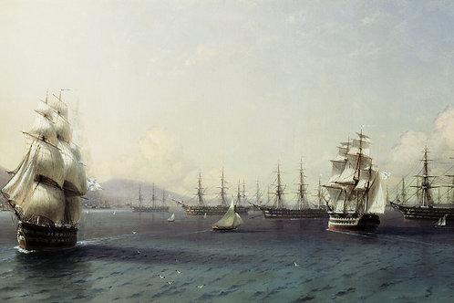 Черноморский флот в Феодосии. 1839.