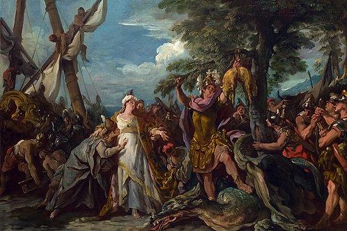 Жан-Франсуа Детруа - Нахождение золотог, 30х40 см.