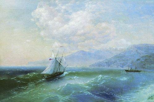 У берегов. 1875, 30х40 см.