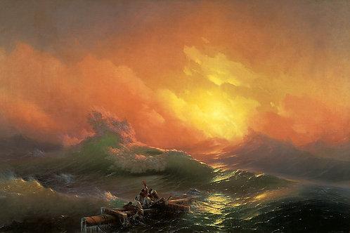Айвазовский, Иван - Девятый вал (1850), 30х40 см.