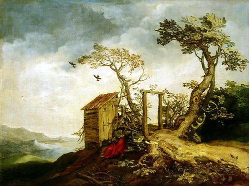 Блумарт, Пейзаж с Пророком Илией, 30х40 см.