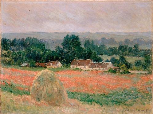 Моне, Клод - Стог сена в Живерни (1886), 30х40 см.